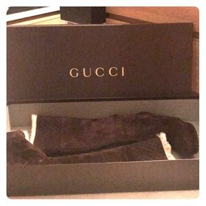 Gucci suede Courtney wedge boots 38.5